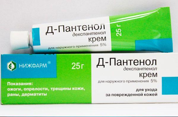 пантенол от аллергии на лице